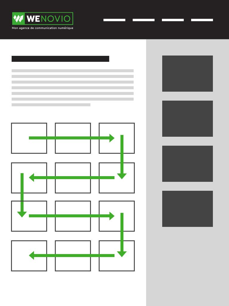 """Exemple de lecture sur Internet avec le schéma """"de la tondeuse à gazon""""."""