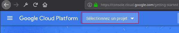Google Cloud création d'un projet pour une clé d'API Google Maps