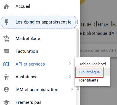 La bibliothèque de l'API Google Maps