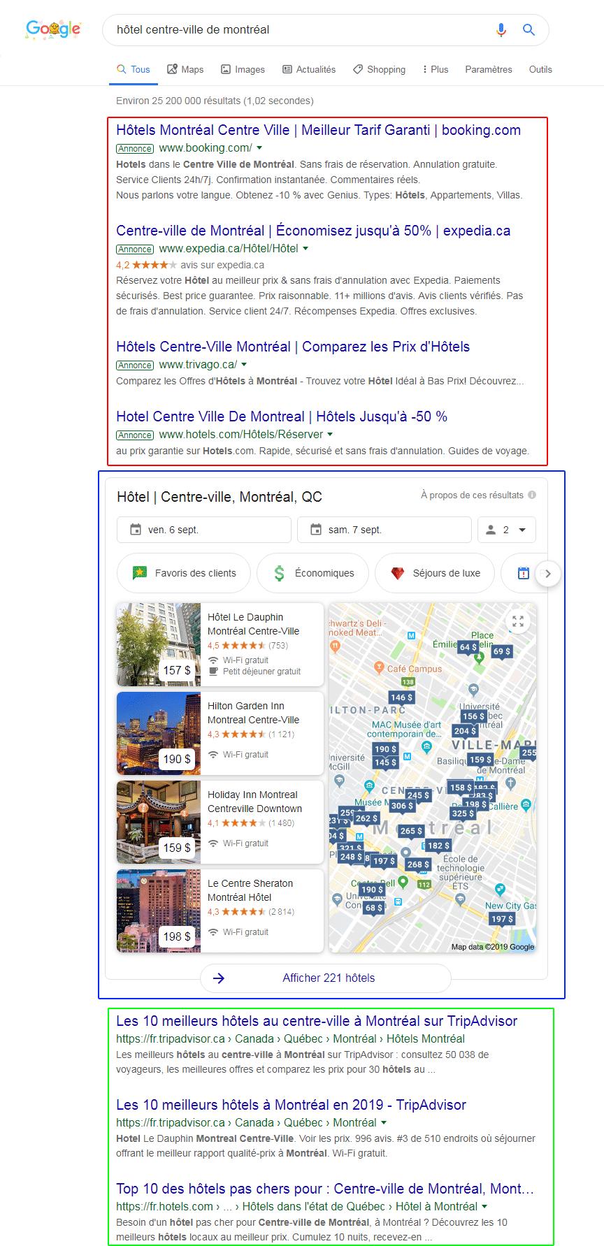SEO : résultats naturels Google