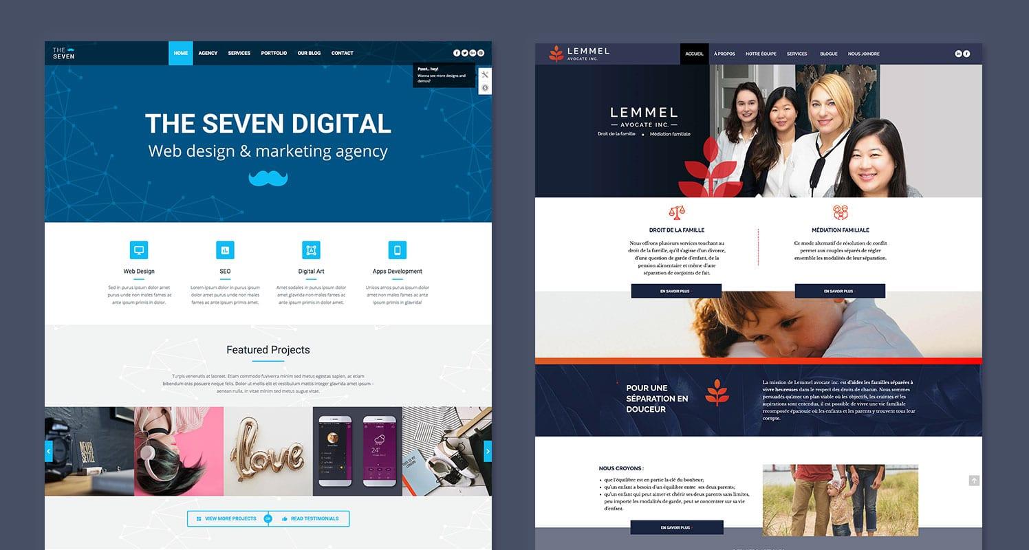Le thème utilisé pour la création du site WordPress de Lemmel Avocate