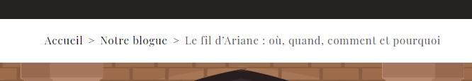 Le fil d'Ariane du site de Wenovio
