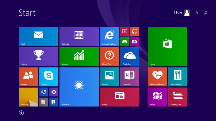 L'interface flat design de Windows 8