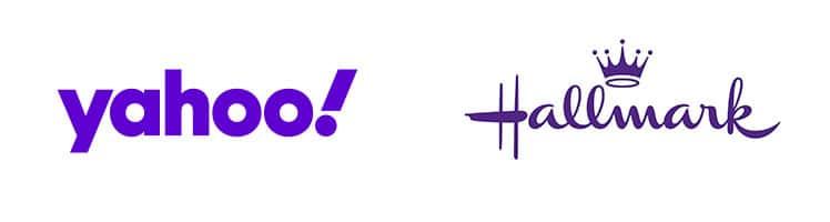 Exemple d'images de marque violet