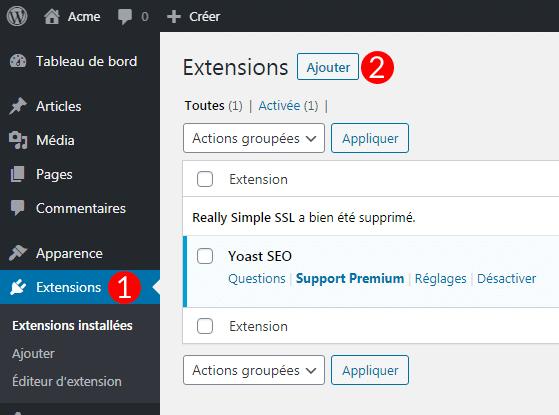 Ajouter Really Simple SSL à WordPress