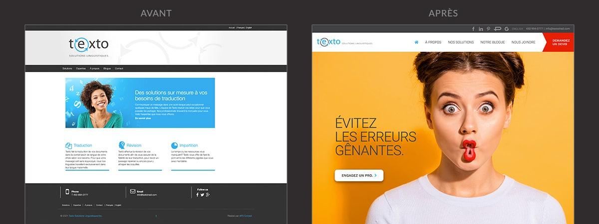 Refonte du site Web de Texto Solutions Linguistiques
