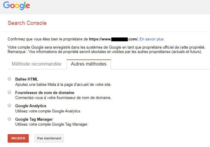 Ajouter un site à la Google Search Console