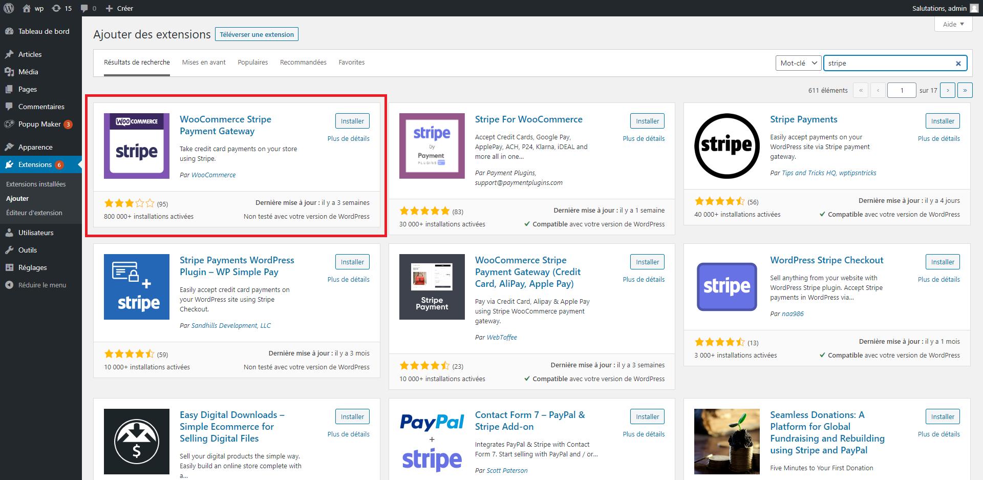 Activer l'extension Stripe pour Google Pay et Apple Pay