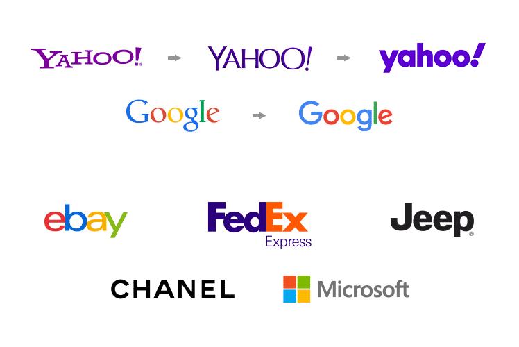 Exemples de typographies sans serif.