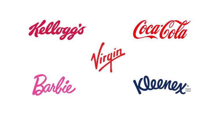 Exemples de typographies script.