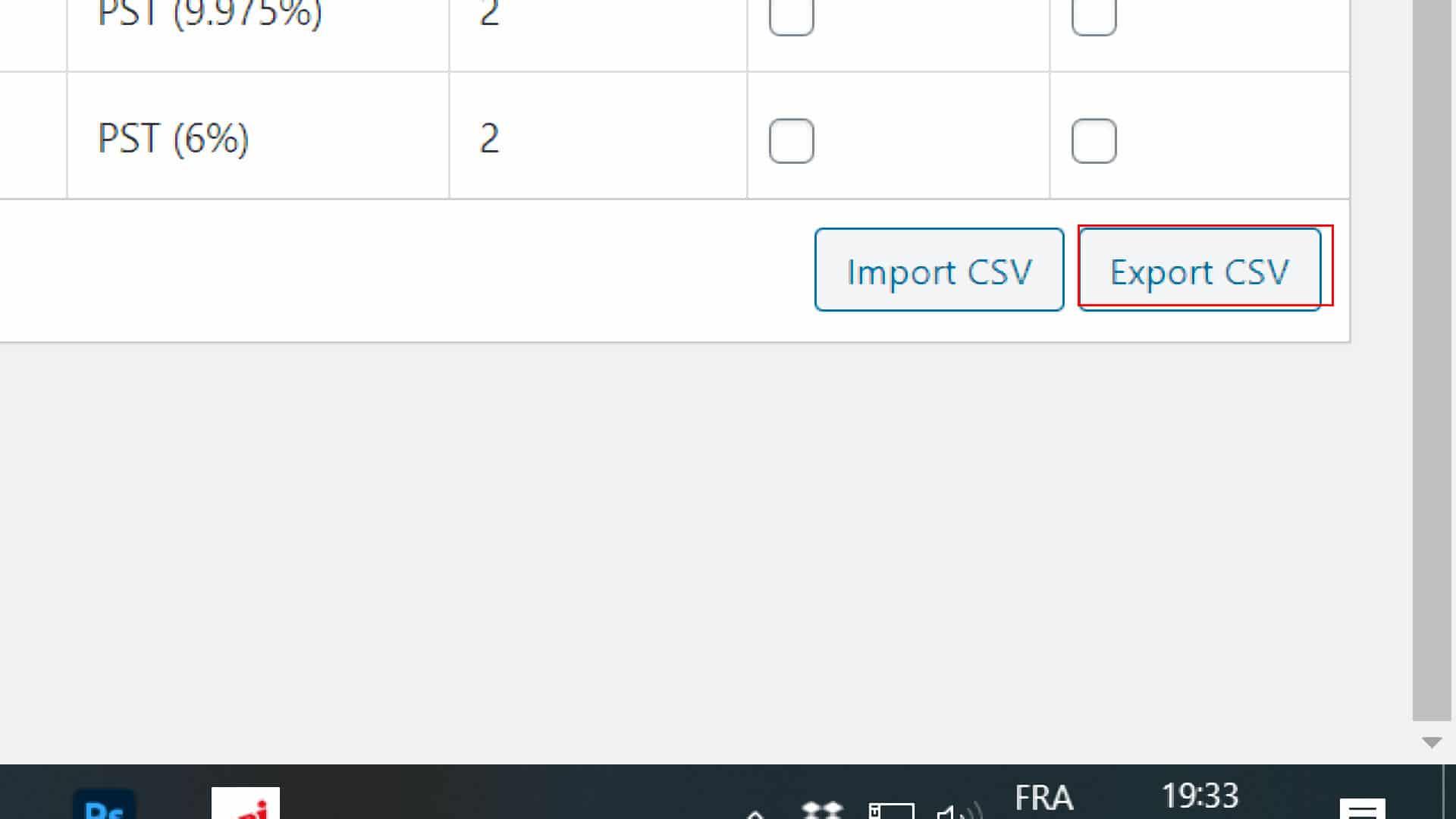 Exporter les taxes du Canada dans WooCommerce