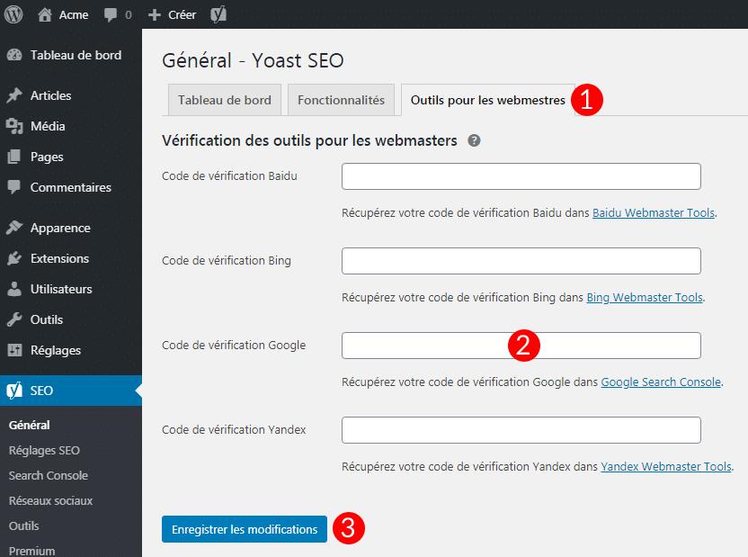 Configurer la Google Search Console