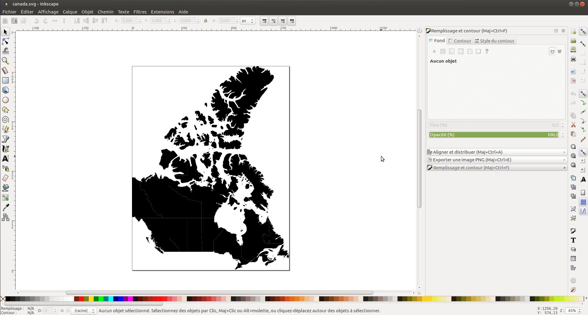 Une carte du Canada en format SVG