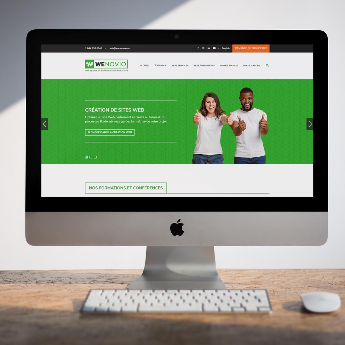 Créer un site Web : l'accueil sur un ordinateur
