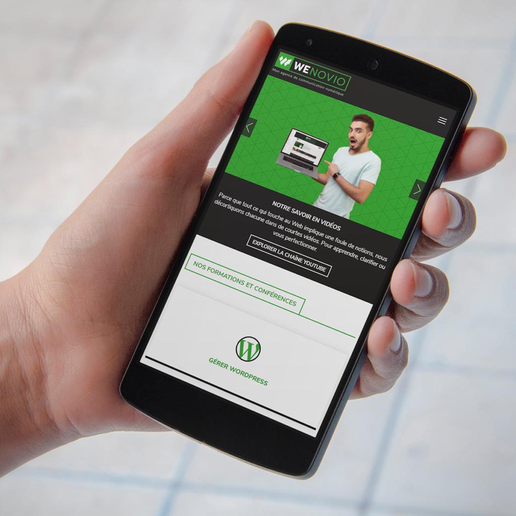 Créer un site Web : l'accueil mobile