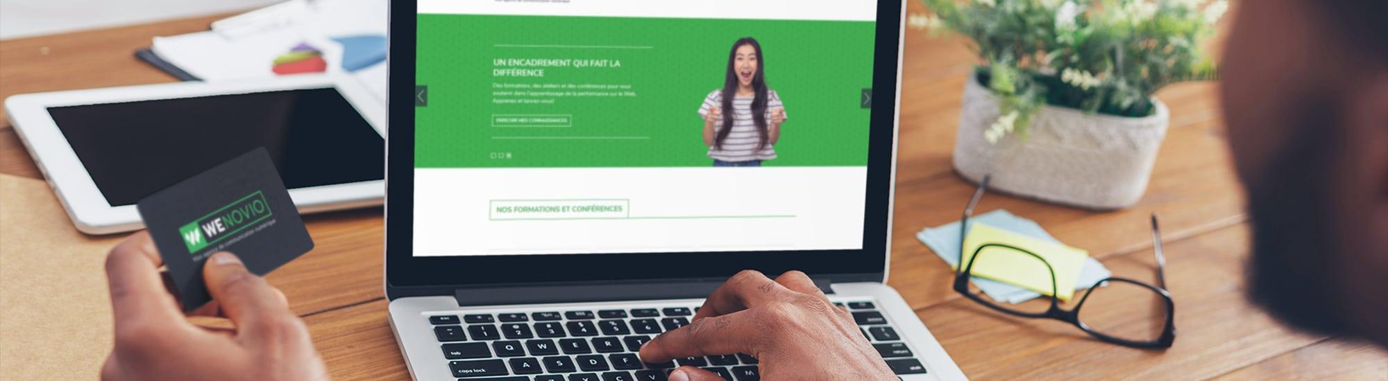 Créer un nouveau site Web pour Wenovio